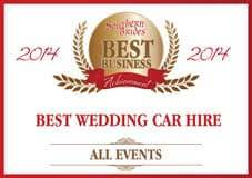2015 Awards - Best Wedding Car Hire